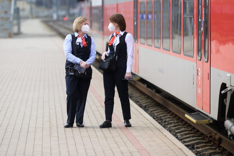 Laikinai buvo sutrikęs geležinkelių eismo sistemos veikimas.<br>V.Skaraičio nuotr.