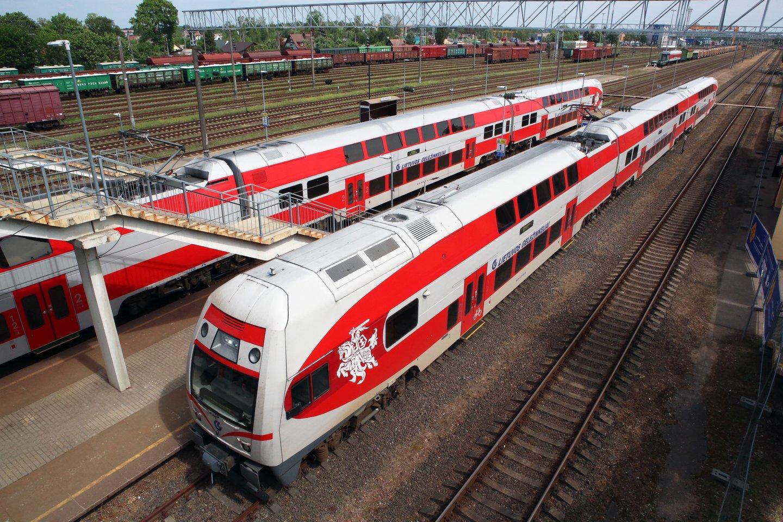 Laikinai buvo sutrikęs geležinkelių eismo sistemos veikimas.<br>M.Patašiaus nuotr.