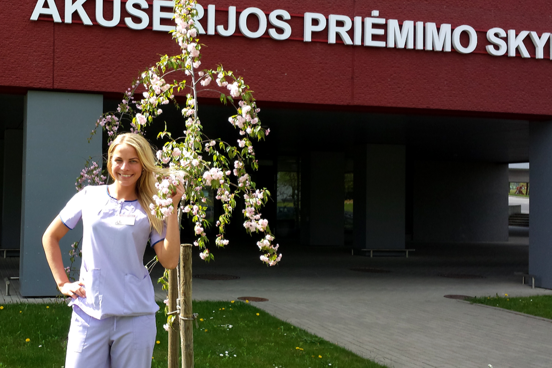 Dvejus metus Laura darbavosi ir Santaros klinikose.<br>Asmeninio albumo nuotr.