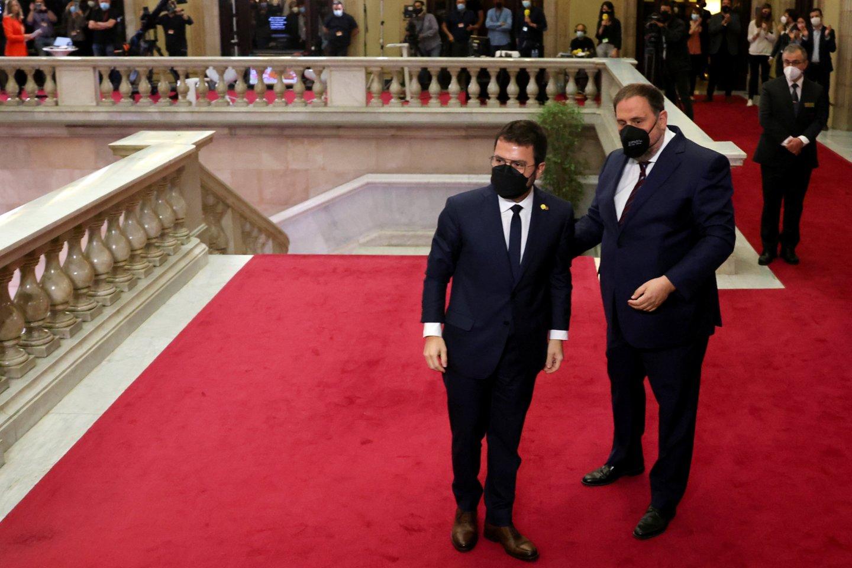 Katalonijos prezidentu išrinktas nuosaikiųjų separatistų lyderis. <br>Reuters/Scanpix nuotr.
