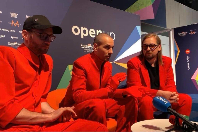 """Paaiškėjo, kurią vietą pirmajame """"Eurovizijos"""" pusfinalyje užėmė """"The Roop"""".<br>Ekrano nuotr."""