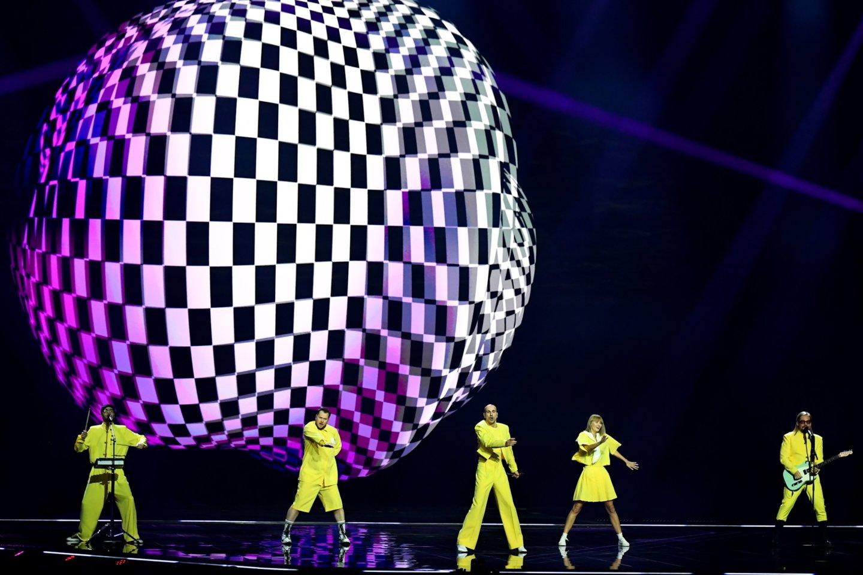 """Lietuvos pasirodymas """"Eurovizijos"""" scenoje.<br>EBU / STIJN SMULDERS ir Scanpix nuotr."""