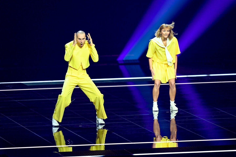 """Lietuvos pasirodymas """"Eurovizijos"""" scenoje.<br>Scanpix nuotr."""