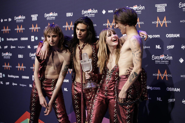 """Per tiesioginę """"Eurovizijos"""" transliaciją grupės lyderis Damianas Davidas įsivėlė į skandalą.<br>Tass/Scanpix nuotr."""