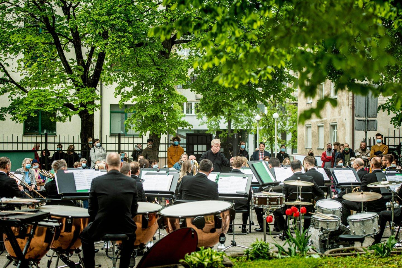 """""""Trimitas"""" sukūrė šventę Vilniaus Naujamiesčio bendruomenei.<br>Organizatorių nuotr."""
