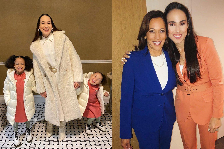JAV viceprezidentės dukterėčiai plačiai atsivėrė mados pasaulio durys.<br>lrytas.lt montažas.