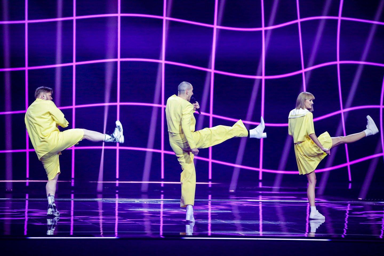 Lietuviai konkurse užėmė 8-ąją vietą.<br>EBU/ THOMAS HANSES nuotr.