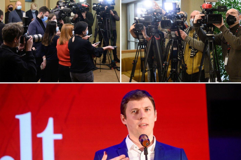 """Portalolrytas.ltredaktorius Tautvydas Mikalajūnas su mokytojais diskutavo ir dalinosi ilgamete savo patirtimi apie žurnalistinio darbo užkulisius, rizikas bei """"fake news"""".<br>Lrytas.lt koliažas"""