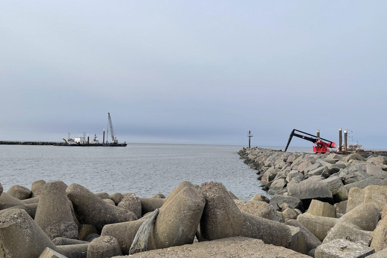 Klaipėdos uoste šiuo metu rekonstruojamas molas.<br>Organizatorių nuotr.