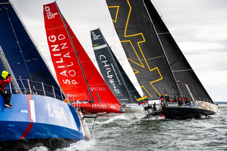 """Lietuvos komanda su """"Ambersail-2"""" jachta taps vieno iš trijų didžiausių buriavimo sporto įvykių dalimi – startuos """"The Ocean Race"""" vardo varžybose aplink Europą.<br>D.Rimeikos nuotr."""