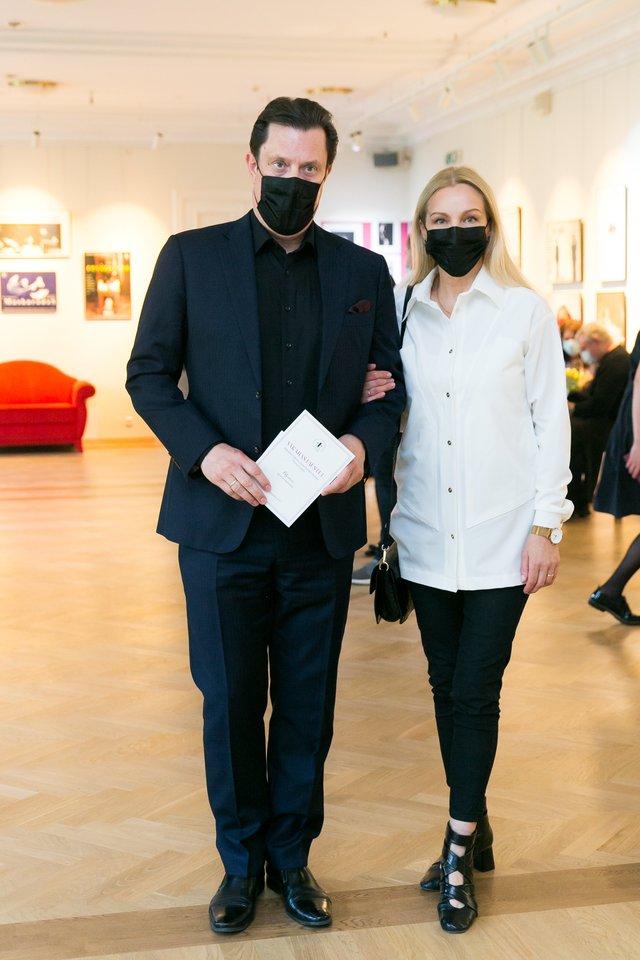 Vytautas Juozapaitis su žmona Egle.<br>T.Bauro nuotr.