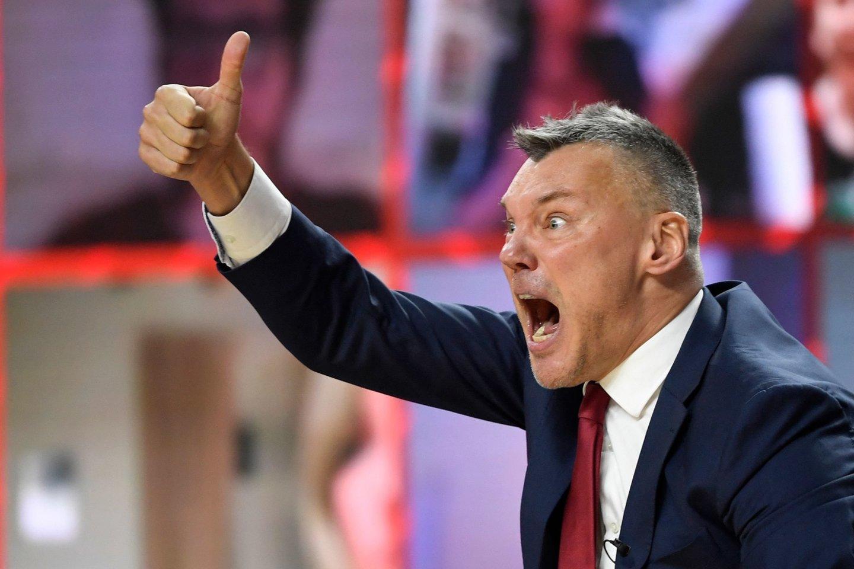Š.Jasikevičius siekia pirmojo Eurolygos titulo kaip treneris.<br>AFP/Scanpix nuotr.