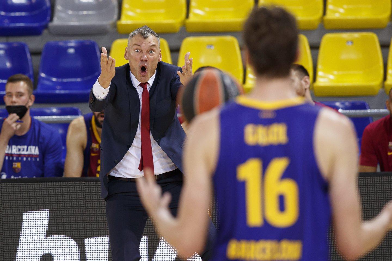 Š.Jasikevičius siekia pirmojo Eurolygos titulo kaip treneris.<br>Zuma Press/Scanpix.com nuotr.