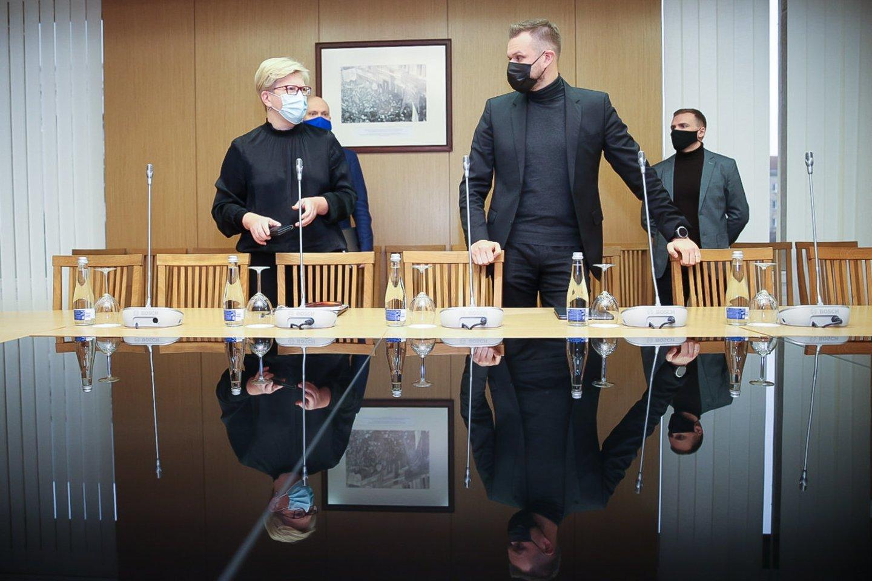 Ingrida Šimonytė, Gabrielius Landsbergis<br>T.Bauro nuotr.