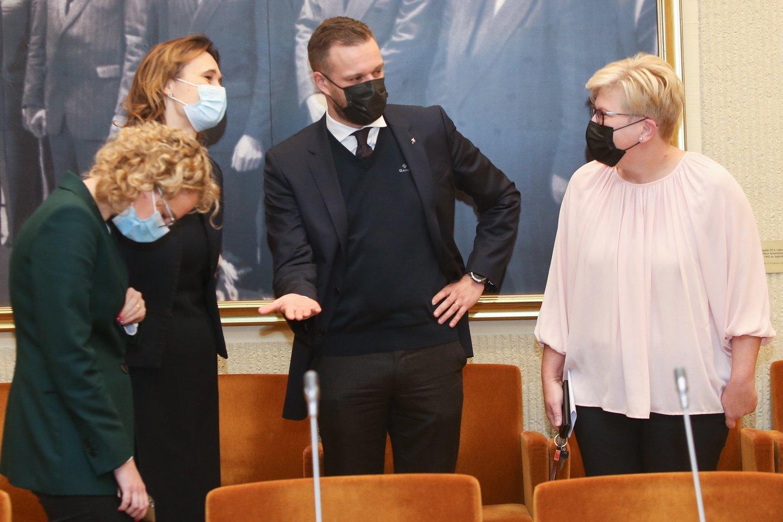 Ingrida Šimonytė, Gabrielius Landsbergis, Viktorija Čmilytė-Nielsen, Aušrinė Armonaitė<br>R.Danisevičiaus nuotr.