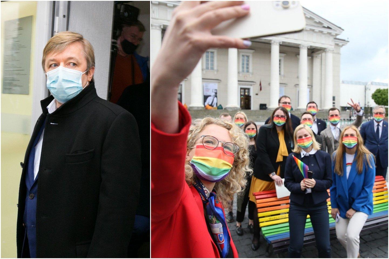 R.Karbauskis įsitikinęs, kad 71 balso partnerystės įteisinimui šioje Seimo kadencijoj nebus.<br>lrytas.lt koliažas.