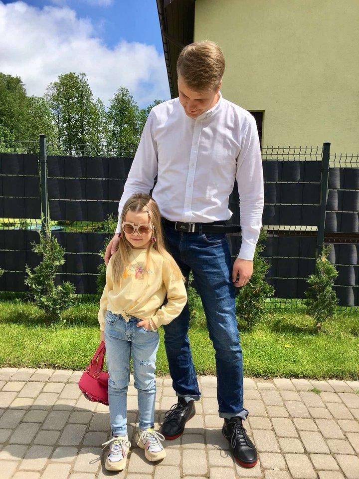 Paulius Bagdanavičius su dukra Paulina.<br>Asmeninio albumo nuotr.