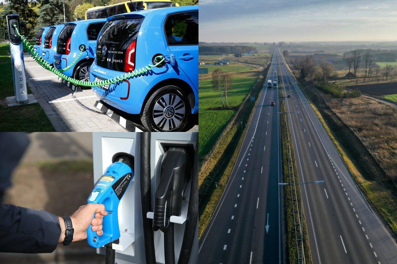 Šiuo metu po Lietuvą išdėstyta net apie 360 elektromobilių įkrovimo stotelių, todėl elektromobilių entuziastai tvirtina, kad po Lietuvą su šia transporto priemone galima keliauti, aišku, laikantis tam tikrų taisyklių.<br>lrytas.lt fotomontažas