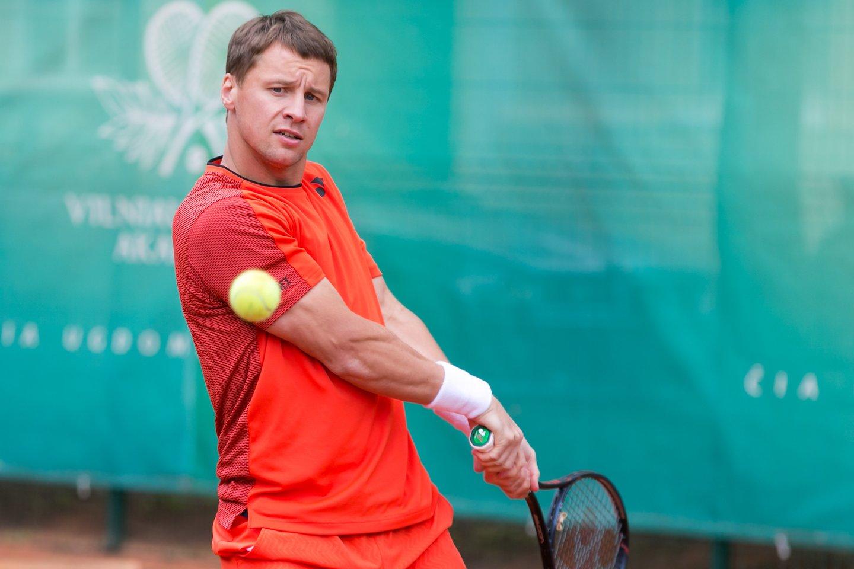 Dar viena populiari sporto šaka yra tenisas – be to, tai yra populiariausia nekomandinė sporto šaka.<br>T.Bauro nuotr.