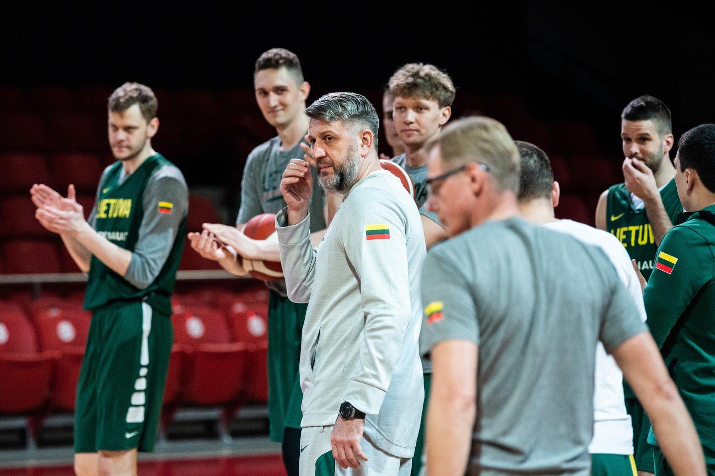 D.Maskoliūno treniruojama rinktinė kovos dėl olimpinio bilieto.<br>V.Skaraičio nuotr.