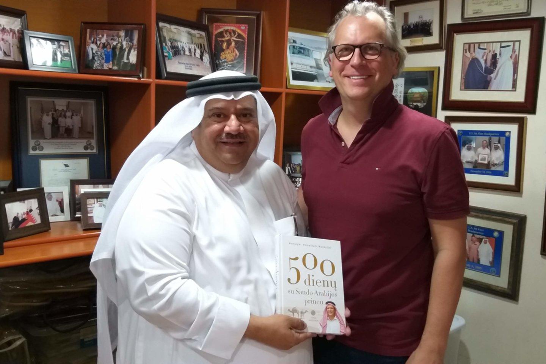 Su žinomu Bahreino verslininku Tofiku.<br>Asmeninio archyvo nuotr.