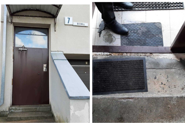 Vilnietis skundžiasi, jog jo name įstatytos durys yra bene vienintelės tokios mieste, o gal ir visoje Lietuvoje.<br>Skaitytojo nuotr.
