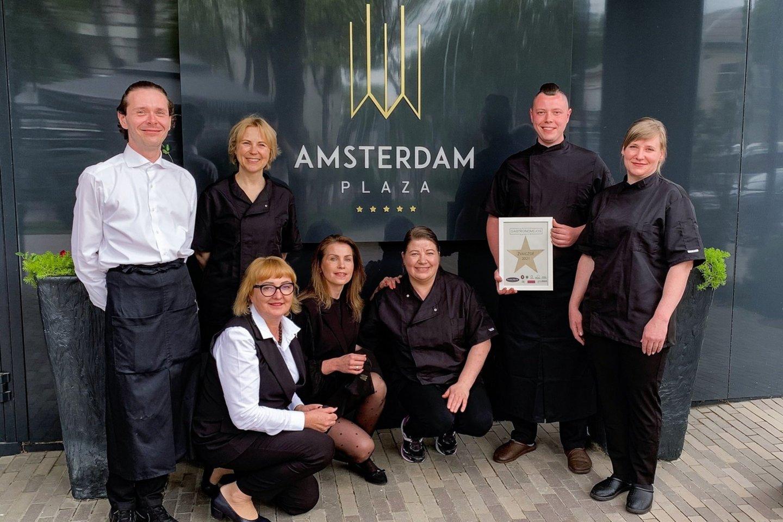 """""""Amsterdam Plaza"""" komanda.<br>Pranešimo autorių nuotr."""