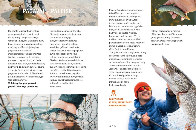 """Naujoji Lino Jonausko knyga """"Mano didžiausia žuvis"""" padės atskirti lyną nuo kuojos, meškerę nuo spiningo, paaiškins visus žvejybos būdus ir papasakos apie žvejų rekordus.<br>Pranešimo spaudai nuotr."""