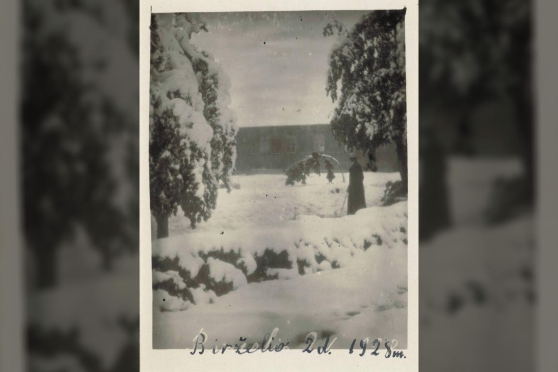 Apsnigtas 1928 m. birželis<br>Lietuvių literatūros ir tautosakos instituto nuotr.