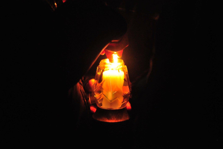 Gdanskas, Lenkija, nužudytas meras Pawelas Adamowiczius, žvakutės, laidotuvės, gedulas, žvakė<br>A.Vaitkevičiaus nuotr.