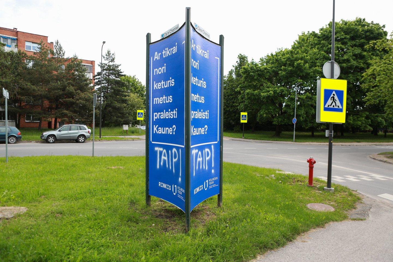 """Kauniečiai greitai atsakė į """"Vilnius Tech"""" universiteto užduotą klausimą.<br>G.Bitvinsko nuotr."""