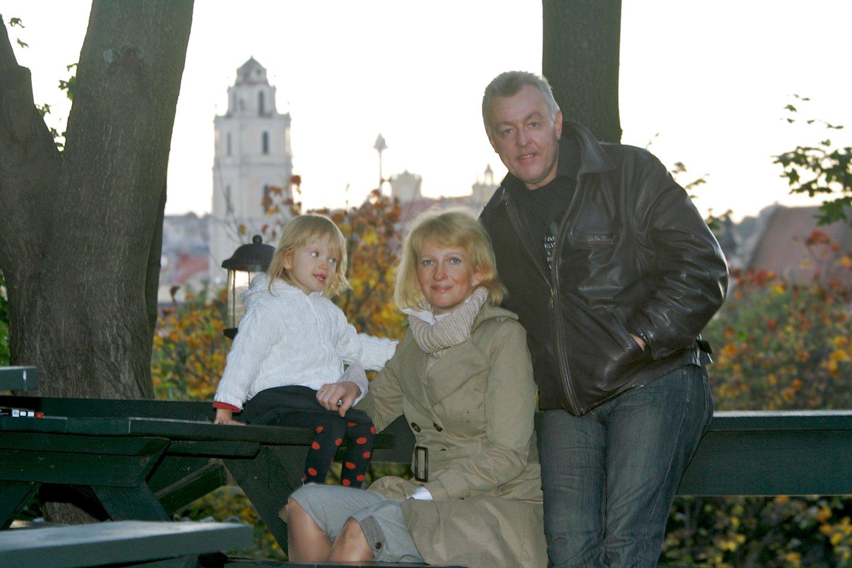 Saulius Siparis buvusia žmona Ugne ir dukra Salomėja.<br>V.Ščiavinsko nuotr.