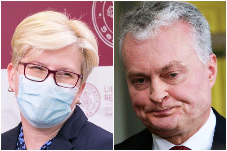 Ingrida Šimonytė ir Gitanas Nausėda.<br>Lrytas.lt koliažas