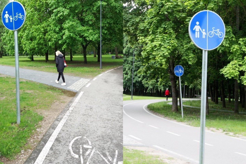 """Panevėžio Kultūros ir poilsio parką gyventojai pastaruoju metu vadina """"susidūrimo su dviratininkais"""" parku.<br>Lrytas.lt fotomontažas"""