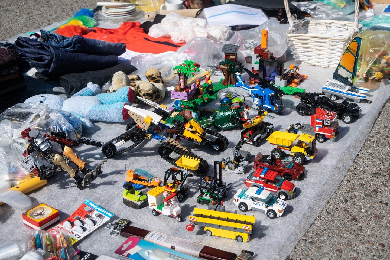 Naujasis bagažinių turgelis Taikos gatvėje, Palangoje.<br>I.Danieliūtės nuotr.