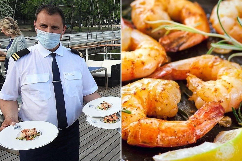 """""""Meridiano"""" kulinarai svečius vaišino lietuviškų krevečių patiekalais.<br>G.Pilaičio nuotr."""