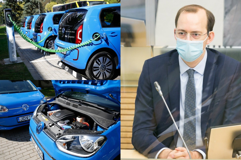 230 tūkstančių elektromobilių ir 60 tūkst. elektromobilių įkrovimo prieigų, kurių įkrovimo galia sieks apie 1000 MW – visa tai planuojama Lietuvoje turėti jau 2030 m.<br>lrytas.lt fotomontažas