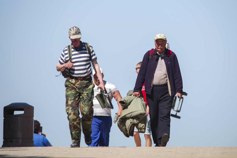 Poilsiautojai Palangoje.<br>V.Ščiavinsko nuotr.