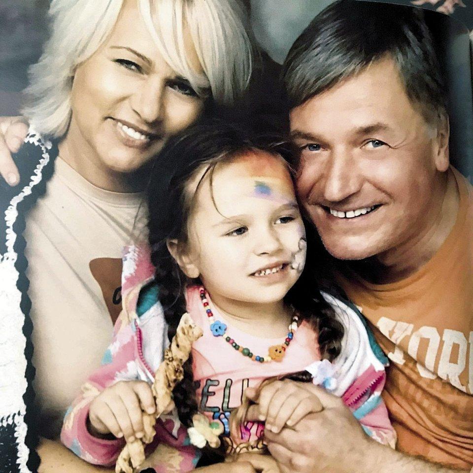 Regvita ir Žilvinas su anūke Barbora.<br>Asmeninis albumas