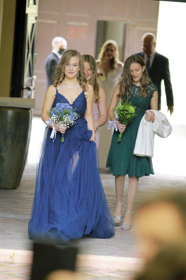 Redos trys dukros – Liepa, Ieva ir Eglė.<br>G.Stokės nuotr.