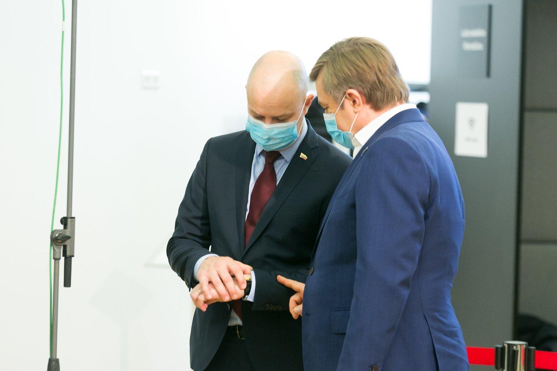 Lietuvos valstiečių ir žaliųjų sąjunga Ramūnas Karbauskis, Aurelijus Veryga<br>T.Bauro nuotr.