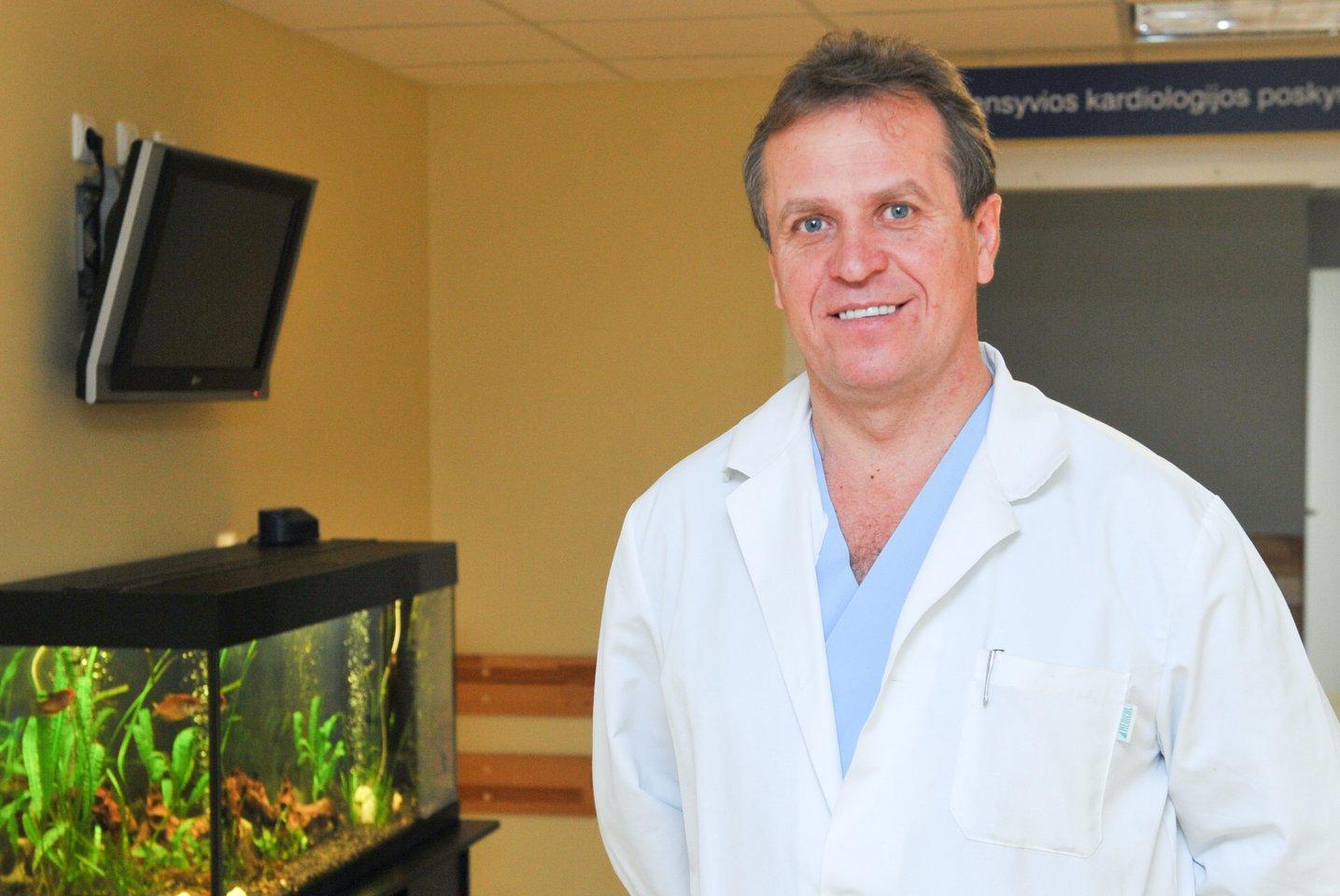Kardiologas profesorius Pranas Šerpytis.<br>T.Bauro nuotr.