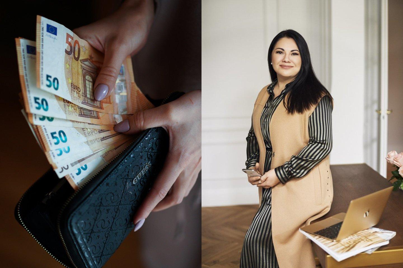 """Dvidešimtmetį floristika užsiimanti """"Kiekvienas gali"""" bendruomenės narė Inesa Borkovska džiaugėsi karantino metu ne tik išlaikiusi verslą, tačiau spėjusi jį išauginti.<br>lrytas.lt montažas."""