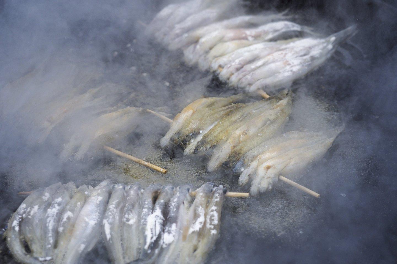 Stintos iš šalies atrodo kaip masalas žuvims, tačiau jų skonis paruošus šias žuvis – ypatingas.<br>V.Ščiavinsko nuotr.