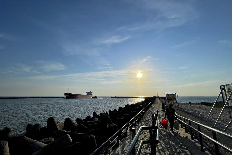 Mūsų šalies įmonės laivais eksportuoja daugiatonažius produktus – žaliavas, trąšas, baldus, įvairius kitus gaminius.<br>V.Ščiavinsko nuotr.