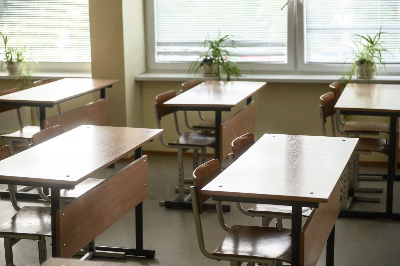 J. Šiugždinienė: hibridinės klasės bus pagalba mokytojui mokykloje atsiradus COVID-19 židiniui.<br>V.Skaraičio nuotr.
