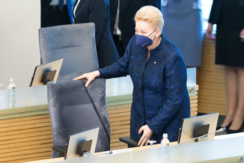 Prezidentė Dalia Grybauskaitė.<br>T.Bauro nuotr.