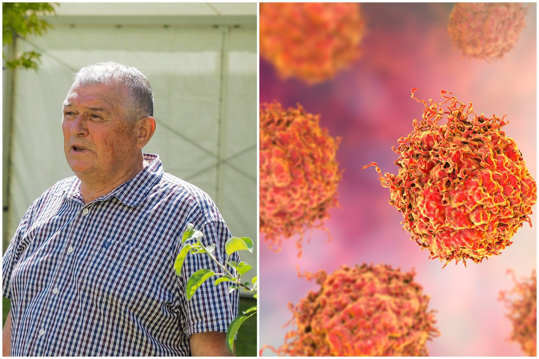Beveik dešimtį metų prostatos vėžiu sergantis Janis Auzinšas kalba apie ligą ir ragina vyrus pasitikrinti sveikatą.<br>E.Paukštės/NVI ir 123 iliustr. koliažas