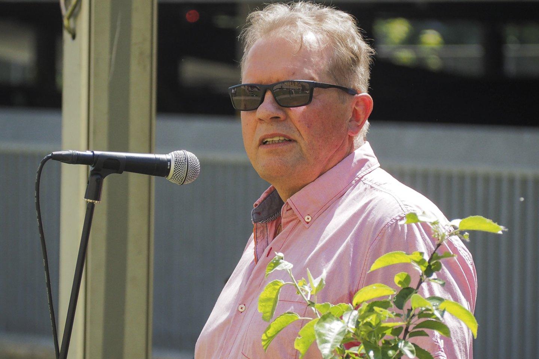Pagalbos onkologiniams ligoniams pacientams (POLA) prezidentas Paulius Rakštys.<br>E.Paukštės/NVI nuotr.