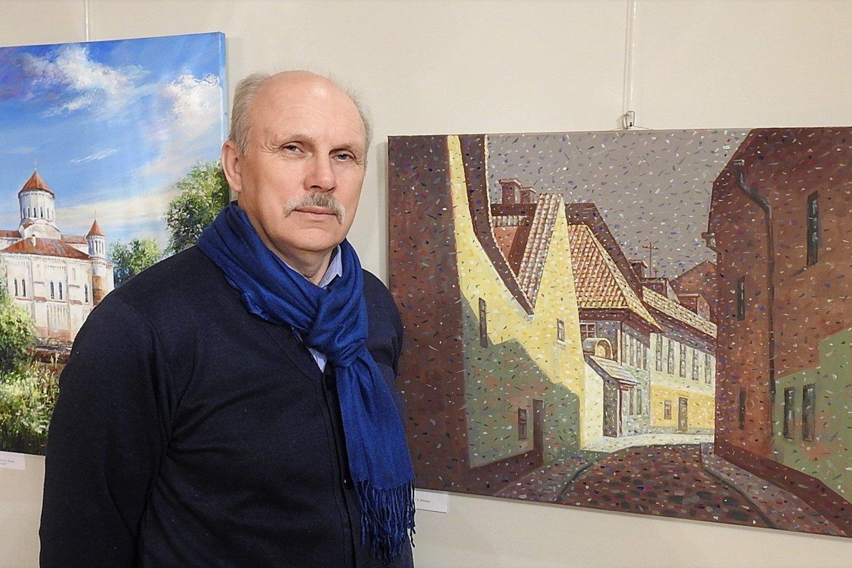 N.Logvinas pristatė baltarusių tapybos parodą.<br>G.Pilaičio nuotr.